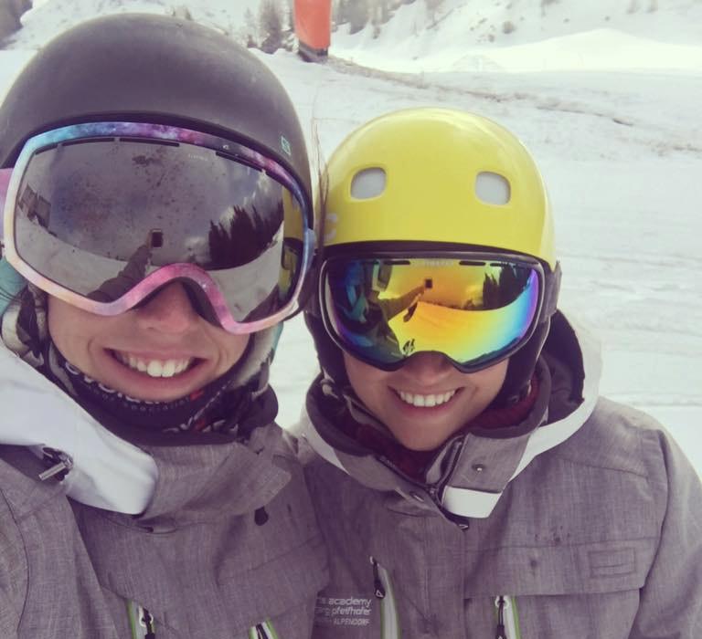 Amade Ski Instructors Selfie